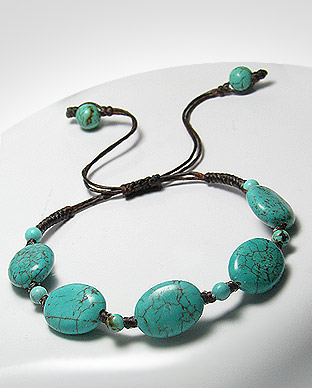 <b>Reconstructed turquoise bracelet</b>