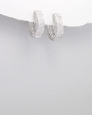 <b>Silver 925 and white zircon earrings</b>
