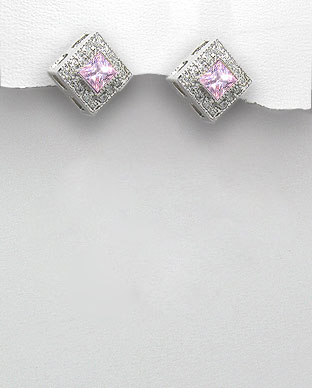 <b>Silver 925 and zirconia earrings</b>