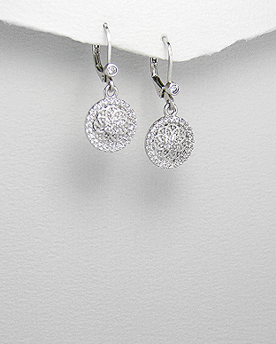 <b>Special silver and white zirconia earrings</b>