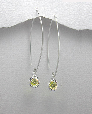 <b>Silver 925 and zircon earrings</b>