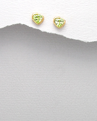 <b>Fine gold plated silver and zirconia earrings </b>