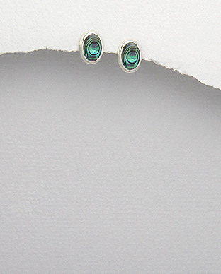 <b>Fine silver and abalone shell earrings</b>