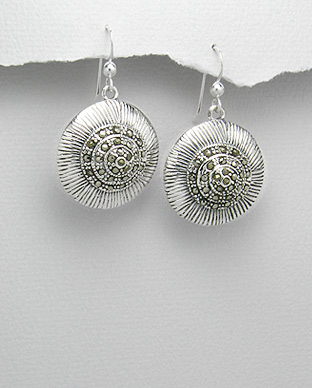 <b>Interesting silver 925 and marcasite earrings</b>