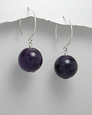<b>Fancy silver 925 and amethyst earrings</b>