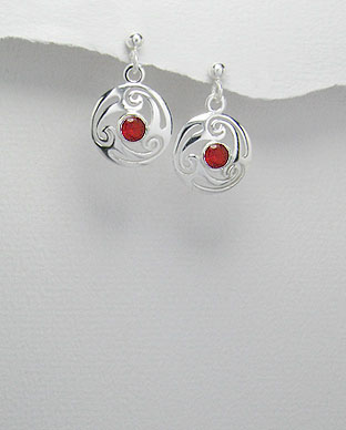 <b>Celtic silver 925 and zirconia earrings<b/>