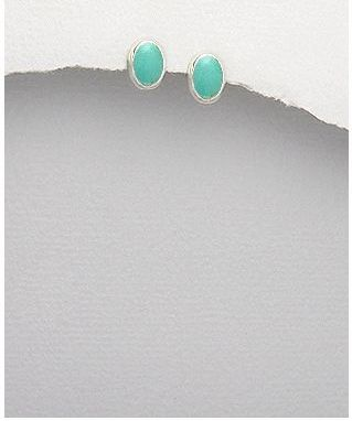 <b>Fine silver and turquoise earings</b>