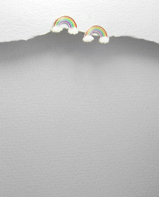 <b>Silver earrings - rainbow</b>