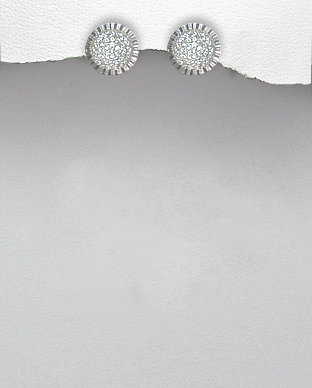 <b>Special silver and white zirconia earrings</