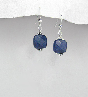 <b> Exclusive sterling silver and sapphire earrings</b>