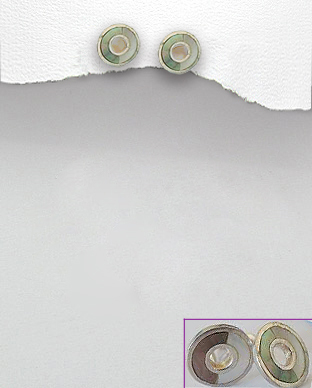 <b>Special silver - shell/abalone earrings</b>