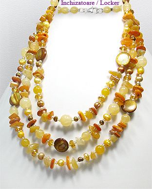 <b>MOP, jade, citrine, pearls and glass special necklace</b>