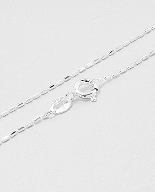 <b>Thin sterling silver chain - tiny bars</b>