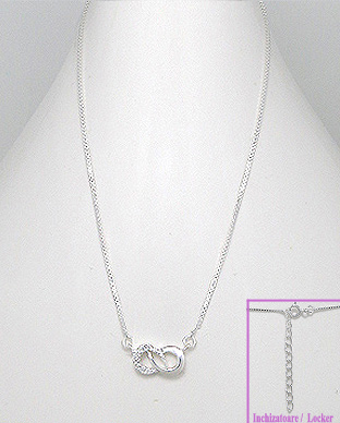 <b>Fine silver- white zircon necklace</b>