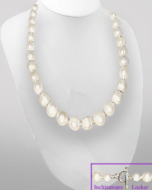 <b>Classical large freshwater pearls necklace</b>