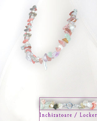 <b>Exclusive tourmaline, fluorite and pearls necklace</b>