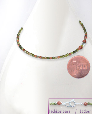 <b>Very fine unakite necklace</b>