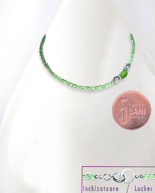 <b>Very fine peridot - sterling silver necklace</b>