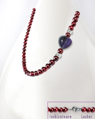 <b>Fine garnet - amethyst necklace</b>