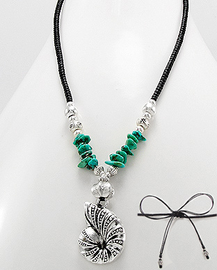<b>Interesting zinc and turquoise necklace</b>