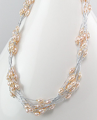 <b>Fancy necklace with fresh water pearls</b>