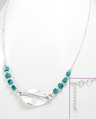 <b>Interesting silver and turquoise necklace</b>