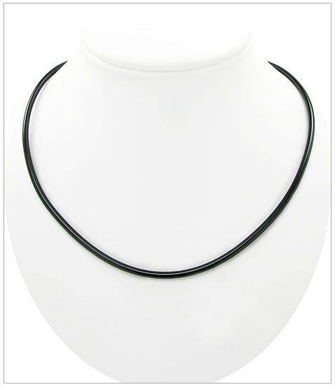 <b>Rubber cord with sterling silver locker</b>