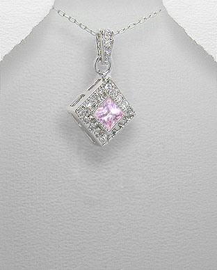 <b>Silver 925 and zircon pendant</b>