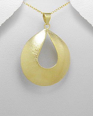 <b>14 Gold Plated Silver Pendant</b>