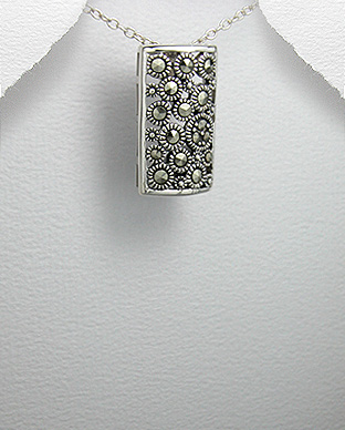 <b>Silver 925 and marcasite pendant - rectangular</b>
