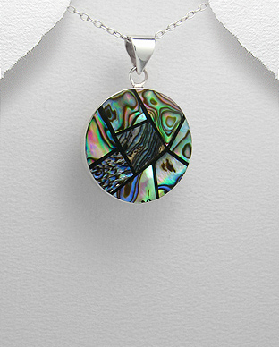 <b>Silver and Abalone shell pendant</b>