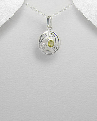 <b>Celtic silver 925 and zircon pendant</b>