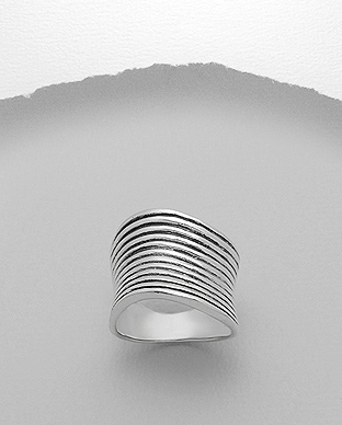<b>Sterling silver asymmetric ring</b>