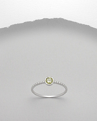 <b>Fine silver 925 and yellow zircon ring</b>