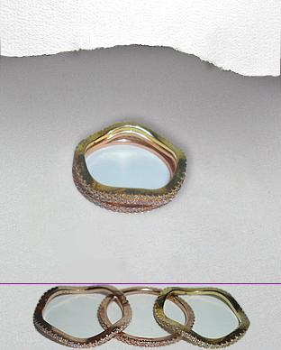 <b>Fine gold plated silver ring - 3 in 1</b>