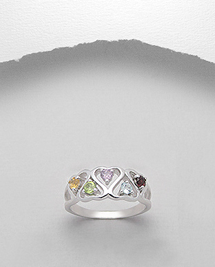 <b>Silver and gem stones ring </b>