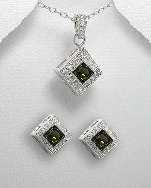 <b>Silver 925 and zirconia set</b>